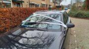 Auto in Hoevelaken ingepakt met duct tape