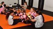 Kickboxtraining voor alleen meisjes bij Semaja's Gym