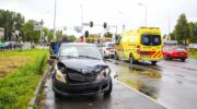 Forse schade na ongeval op drukke kruising in Nijkerk