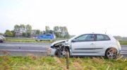 Ongeval tussen vrachtwagen en auto op A28 bij afrit Nijkerk, twee rijstroken afgesloten